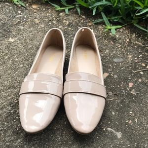 Old navy, shiny faux leather loafers